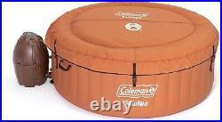 Coleman SaluSpa Miami 4-Person Inflatable Hot Tub Spa Orange 71-inch x 24-inch