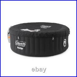 Coleman SaluSpa Portable 4 Person Outdoor Inflatable Hot Tub Spa with Pump, Black