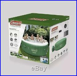 Coleman Saluspa Inflatable Hot Tub Spa Jacuzzi Green White 77 X 28 4-6 Person