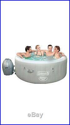 Coleman Saluspa Tahiti Airjet Inflatable Hot Tub Spa 4-Person Jacuzzi
