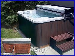 Corner Hot Tub Spa Lighted Cabinet Wood Highwood Backyard Replacement Kit