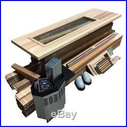 DIY Sauna Kit 7' x 8' Complete Sauna Room Package 9 Kw Electric Heater