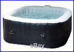Deluxe 6 Person 130-Jet Inflatable Plug and Play Spa with O-Care Startup Kit