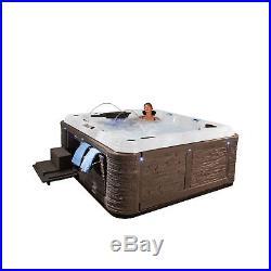 Everlast Spas Grand Estate 90-Jet Spa Hot Tub, Sterling Silver