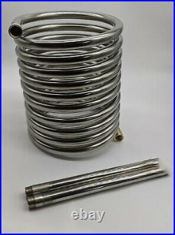 Giant stainless steel heater coil, 12m x 32mm with detachable tails