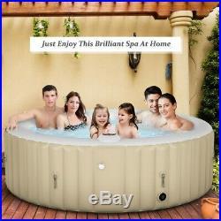 Goplus Portable Inflatable Bubble Massage SPA. Color Beige. New