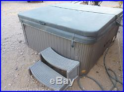 HOT TUB SPA MASTERSPA LEGACY WHIRLPOOL SEATS 6 OR 7 W COVER STEPS WATERFALL