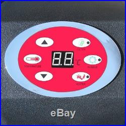 Heated Bubble Hot Tub Inflatable 4 Person Portable Home Massage SPA Pool Black