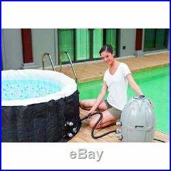 Heated Jacuzzi Spa Hot Tub Outdoor Garden Self Inflating Laz-y 2-4 Seater Person