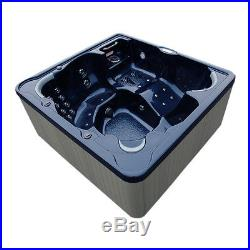 Home and Garden Spas 6 Person 81 Jet Hot Tub with MP3 Auxiliary Output