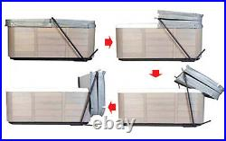 Hot Tub Cover Valet Rock it Cover Lifter Assist Under Spa Mounting Design Lift