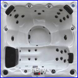 Hot Tub Massage Spa Plug Play 6 Person Acrylic Spa Jacuzzi Bubble Thermal Cover