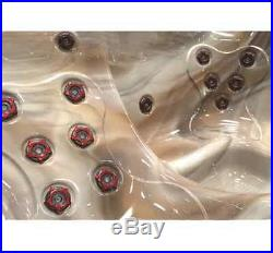 Hot Tub Spa 5 Person 30 Jets Lights Heated Bubble Massage Outdoor LED Lounger