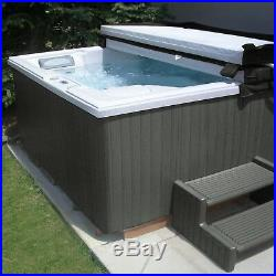 Hot Tub Spa Jacuzzi Inflatable Hottub Heated Bubble Cabinet Kit Outdoor Gray