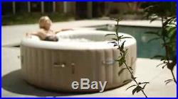 Hot Tube Spa 4-Person Portable Hot Tub Round Intex PureSpa Bubble Massage 77Tan