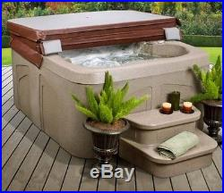 Hot Tubs And Spas Jacuzzi 4 Person Steps Cover Heated Bubble Jets Led Light Deck