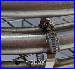 Hot tub heater coil & stand stainless steel outdoor water heater