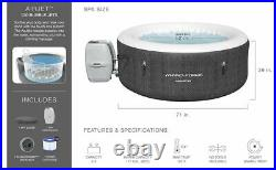 Hydro-Force Havana Inflatable Portable 2-4 Person White Black Grey Hot Tub Spa
