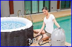 INFLATABLE HOT TUB 4-Person Heated Jets Pool Jacuzzi Portable Spa BUBBLE MASSAGE