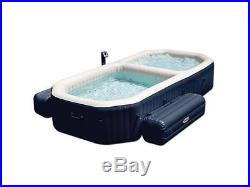 INTEX 4 Person PureSpa Bubble Spa and Pool Combo with2 Inflatable Benches 28491E