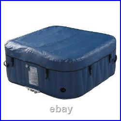 Inflatable Hot Tub 4-6 Person Blow Up Portable Spa w Heater & Bubble Jets