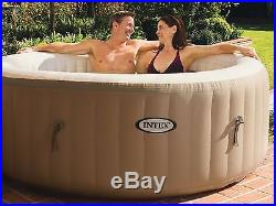 Inflatable Hot Tub 4 Person Backyard Spa Massage Jet Insulated Cover Durable