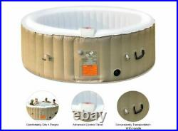 Inflatable Hot Tub Massage Spa Relaxing Bubble 4 6 Persons Round Jacuzzi Pool