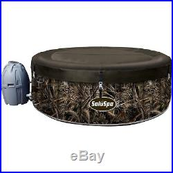 Inflatable Hot Tub Outdoor Spa Jacuzzi Tubs Portable 4 Person Round Insulated