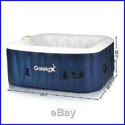 Inflatable Hot Tub Portable Jacuzzi 4 Person New Outdoor Spa Hottub Massage Pool