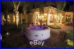 Inflatable Hot Tub Portable Spa 4 Person Softtub Pool LED Light Show Spa Box