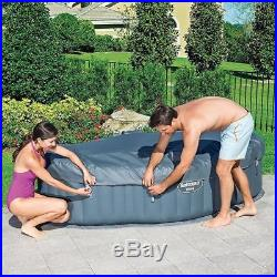 Inflatable Hot Tub Portable Spa Air Bubble Massage Outdoor Porch Lawn, 2 Person
