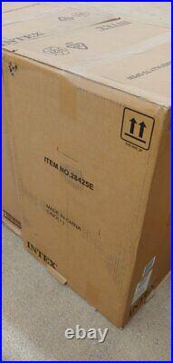 Inflatable Hot Tub Spa Intex 28425E 77in 4-Person PureSpa Bubble Massage Tan