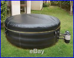 Inflatable Hot Tub Spa with Cover Included Rapid Inflation & Deflation 4 Person