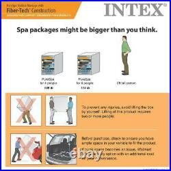 Intex 120 Bubble Jets 4-Person Octagonal Portable Inflatable Hot Tub Spa 28413WL