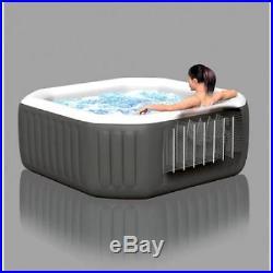 Intex 120 Bubble Jets 4 Person Octagonal PureSpa Hot Tub Portable Massage NEW