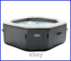 Intex 120 Bubble Jets 4 person Octogonal Inflatable Hot Tub, Gray #28433WL