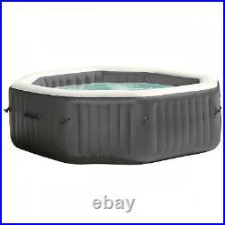 Intex 140 Bubble Jets 6-Person Octagonal Portable Inflatable Hot Tub Spa