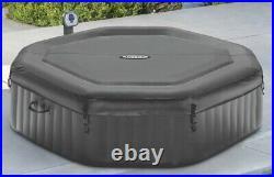 Intex 140 Bubble Jets 6-Person Octagonal Portable Inflatable Hot Tub Spa 28437WL