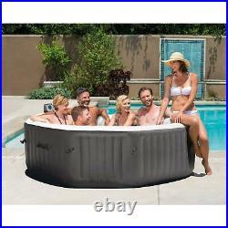 Intex 140 Bubble Jets 6-Person Octagonal Portable Inflatable Hot Tub Spa Bath