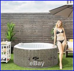 Intex 28403E PureSpa Portable Bubble Massage Spa Set 4 Person