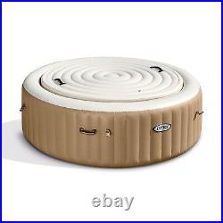 Intex 28403E Round Portable Inflatable Hot Tub Spa Set