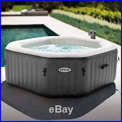 Intex 28413WL 4 Person Octogonal Portable Inflatable Hot Tub