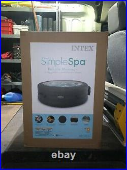 Intex 28481E Simple Spa 77in x 26in Inflatable Hot Tub with Filter Pump & Cover