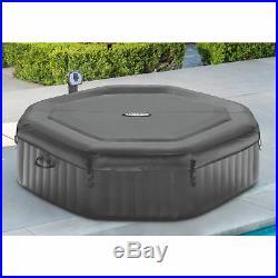 Intex 6 Person Jacuzzi Inflatable Bubble Jet Massage Portable Hot Tub Luxury Spa