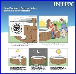 Intex 6 Person Octagonal Garden Portable Inflatable Hot Tub Spa 140 Bubble Jets