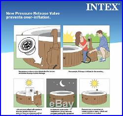 Intex 6 Person Octagonal Portable Inflatable Hot Tub Spa Patio Garden Furniture