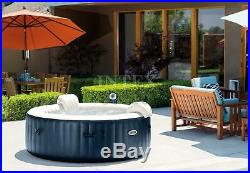 Intex Inflatable 6 Person Outdoor Hot Tub + Non Slip Seat Insert (Open Box)
