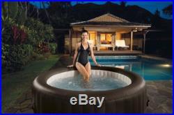 Intex PureSpa 28421E Inflatable Portable 4 Person Hot Tub Jet Massage Spa Set