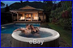 Intex PureSpa 4 Person Deluxe Inflatable Jet & Bubble Spa Hot Tub Model 28443E