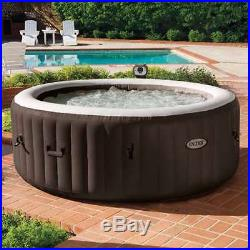 Intex PureSpa 4-Person Inflatable Bubble Jet Heated Hot Tub Spa, Brown (Used)